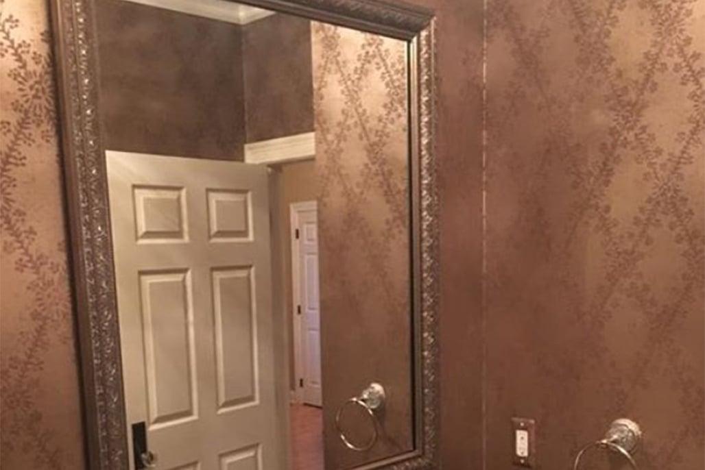 Innovative Closet Designs Framed Mirror Treatments
