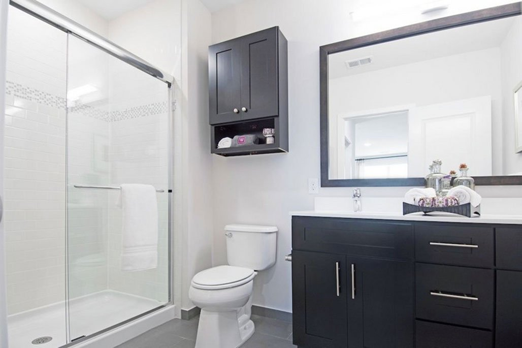 Innovative Closet Designs Commercial In-Unit Bath Solutions: Medicine Cabinets and Framed, Semi-Frameless and Frameless Glass Shower Enclosure