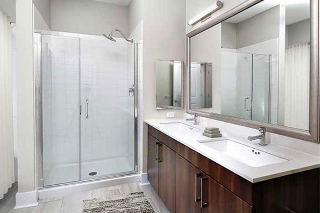 Innovative Closet Designs Commercial In-Unit Bath Solutions: Framed, Semi-Frameless and Frameless Glass Shower Enclosures