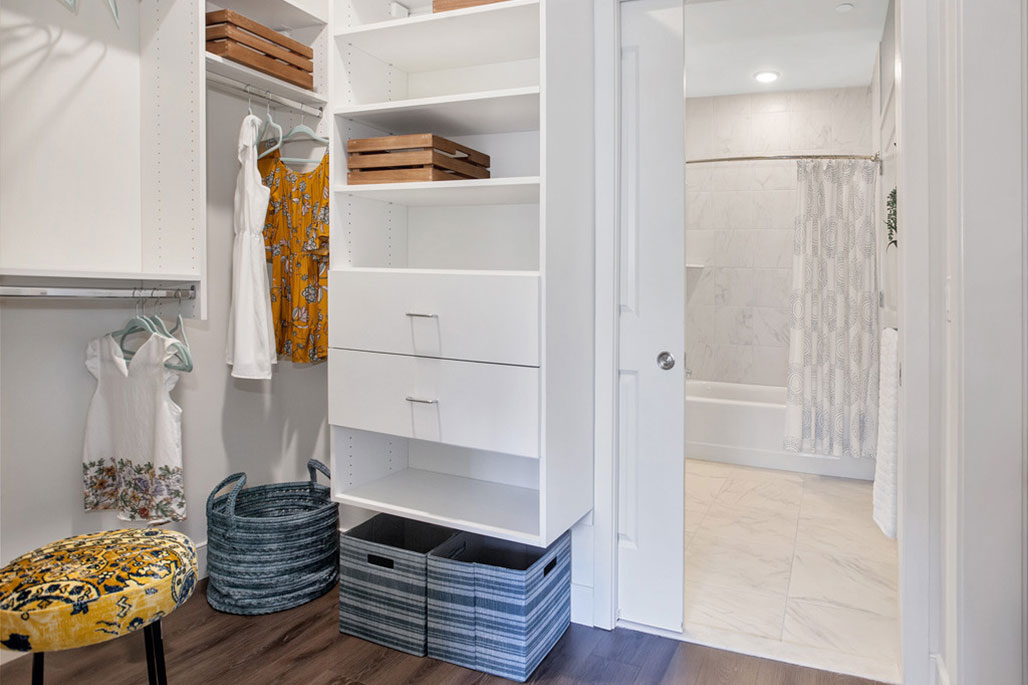 Commercial In-Unit Storage Solutions: Drawers and Shoe Shelves by Innovative Closet Designs