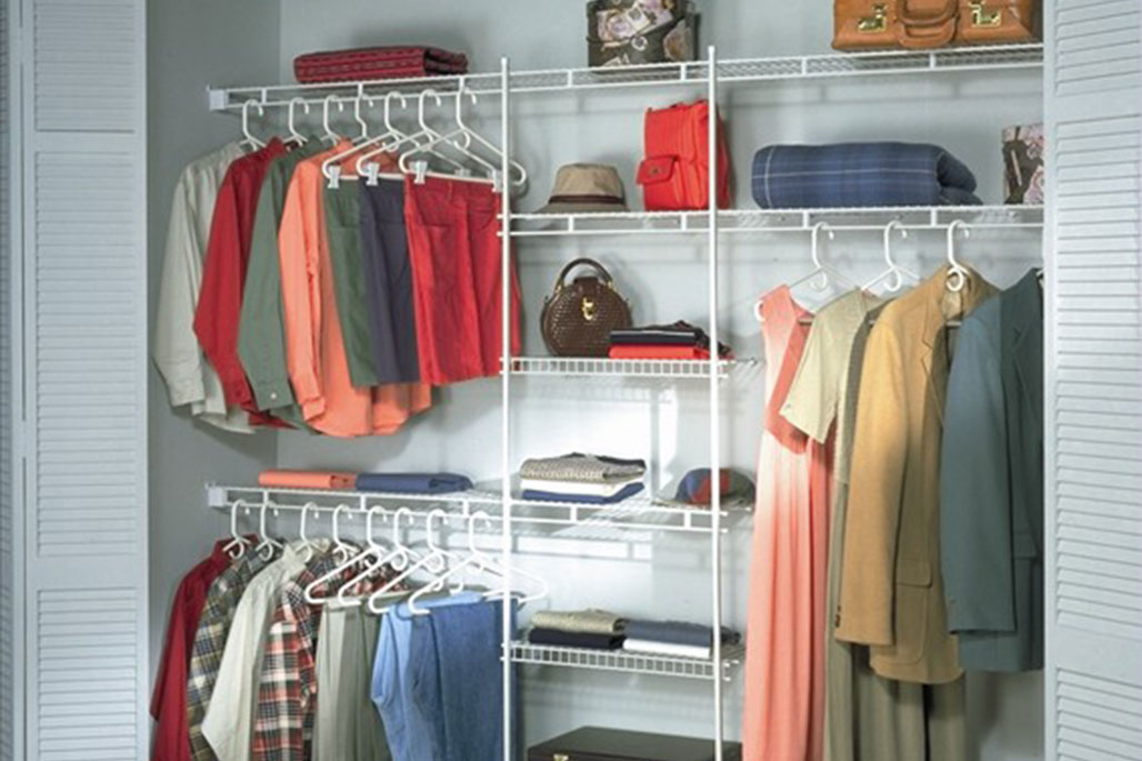 Custom ventilated wire shelving from Innovative Closet Designs