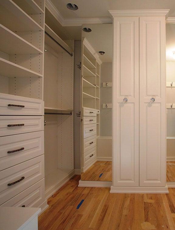 Custom closet solution from Innovative Closet Designs
