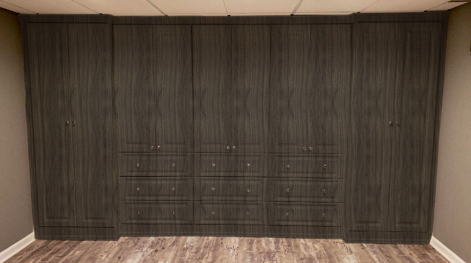 After Hours swatch : Custom laminate shelving and storage offering by Innovative Closet Designs