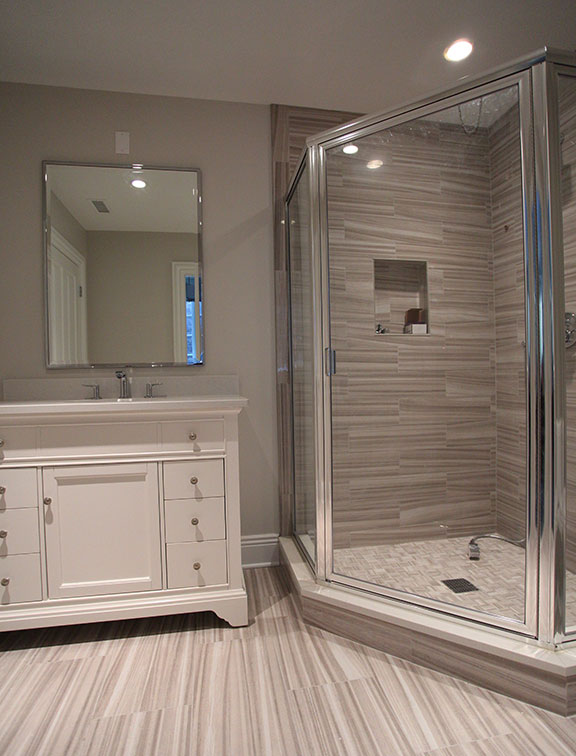 Innovative Closet Designs Bath Solutions offers custom cabinets, shower enclosures, and mirrors