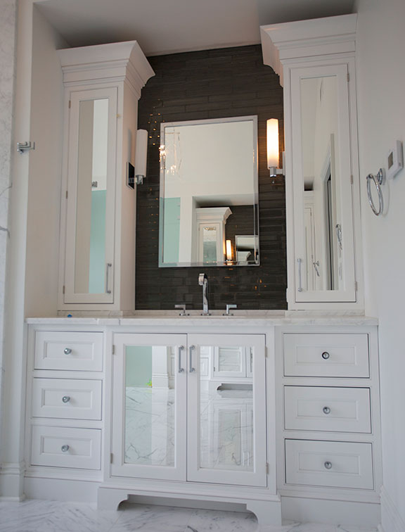 Innovative Closet Designs Bath Solutions offers custom cabinets, mirrors and accessories