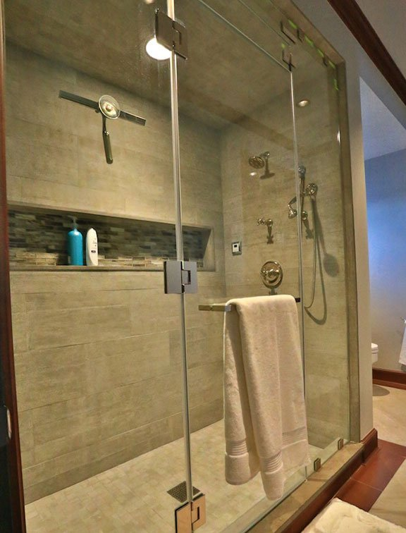 Innovative Closet Designs Bath Solutions offers custom shower enclosures and accessories