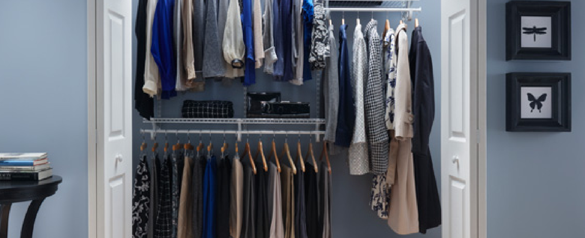 Wire closet shelving and storage solutions from Innovative Closet Designs