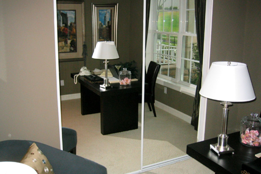Innovative Closet Designs Custom Glass Services: Mirrored doors in sliding units or bi-fold
