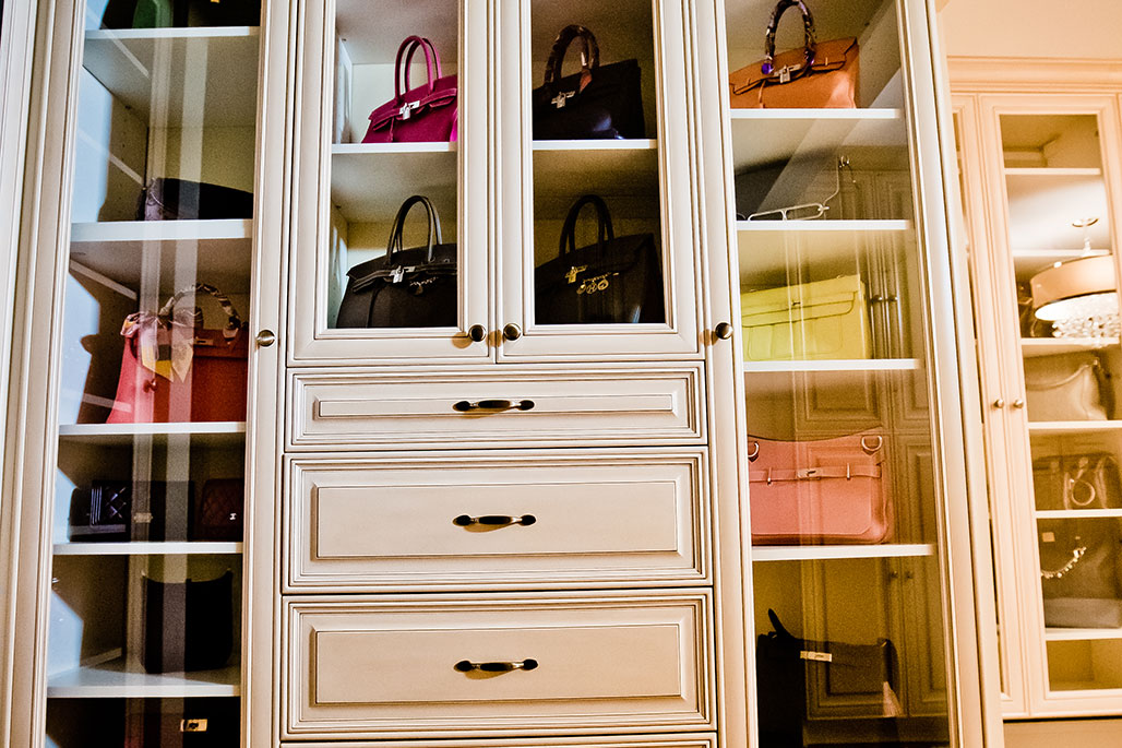 Innovative Closet Designs Custom Glass Services: Clear glass to protect and showcase high-value items