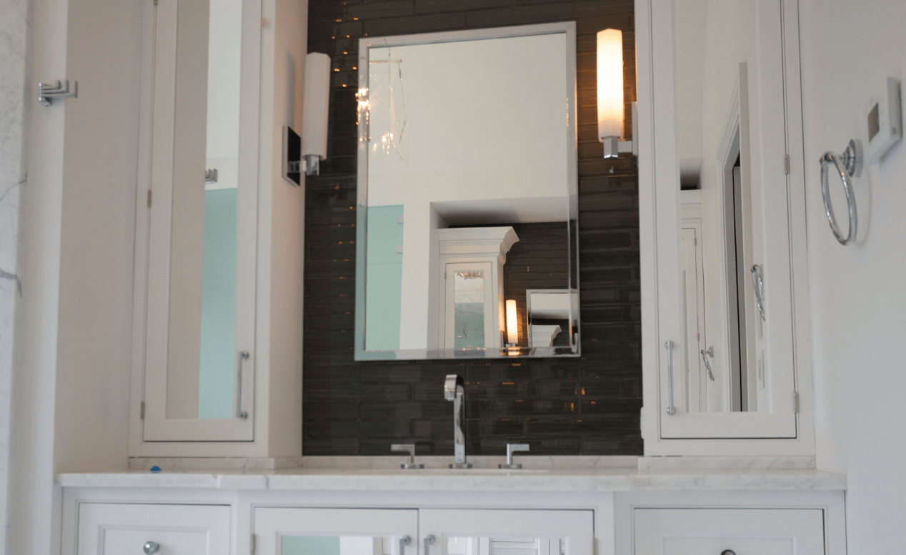 Innovative Closet Designs Bath Solutions: Mirrors and Cabinets