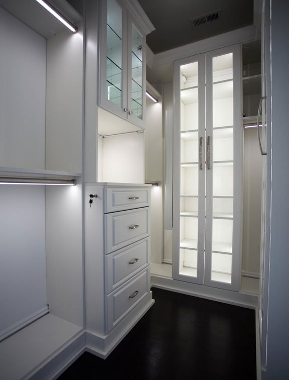 Custom storage solution from Innovative Closet Designs