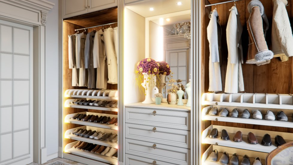 illuminated-shoe-drawers-in-an-organized-closet